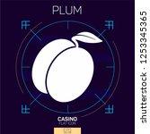 casino slots  plum icon | Shutterstock .eps vector #1253345365