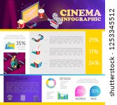 isometric cinematography... | Shutterstock .eps vector #1253345512