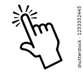finger touch or tap icon | Shutterstock . vector #1253352445