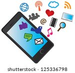 mobile cellular phone with...   Shutterstock . vector #125336798