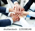 close up of business partners... | Shutterstock . vector #125338148