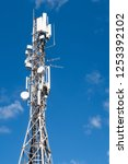 4g and 5g cell site. base... | Shutterstock . vector #1253392102