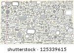 notebook doodle design elements ... | Shutterstock .eps vector #125339615
