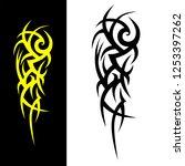 tribal pattern vector isolated... | Shutterstock .eps vector #1253397262