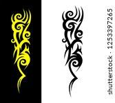 tribal pattern vector isolated... | Shutterstock .eps vector #1253397265
