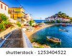 kokkari village panoramic view... | Shutterstock . vector #1253404522