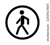 no walking sign. prohibited... | Shutterstock . vector #1253417845