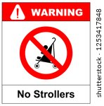 no strollers or pushchair  ... | Shutterstock . vector #1253417848