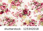 Stock photo texture print and wale of fabric in beautiful floral pattern 125342018