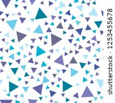 triangle seamless vector eps 10 ... | Shutterstock .eps vector #1253455678