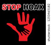 hoaxes are things we must... | Shutterstock .eps vector #1253465182