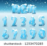 stylized digits from the ice... | Shutterstock .eps vector #1253470285