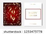 set of 2 happy new year night... | Shutterstock .eps vector #1253475778