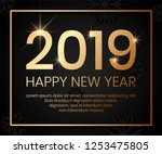2019 happy new year background... | Shutterstock .eps vector #1253475805