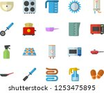 color flat icon set sink flat... | Shutterstock .eps vector #1253475895