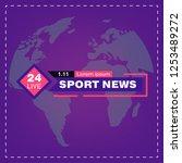 sport news tv  tv news studio... | Shutterstock .eps vector #1253489272