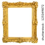 gold vintage frame isolated on... | Shutterstock . vector #125349872