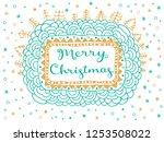 merry christmas gift card....   Shutterstock .eps vector #1253508022