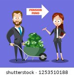 pension fund investment poster... | Shutterstock .eps vector #1253510188