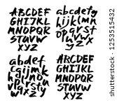 alphabet letters.black... | Shutterstock .eps vector #1253515432