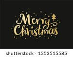 merry christmas lettering label ... | Shutterstock .eps vector #1253515585