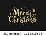 merry christmas lettering label ... | Shutterstock .eps vector #1253515585