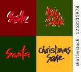 set of holiday sale  christmas... | Shutterstock .eps vector #1253515978