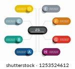 infographic design template... | Shutterstock .eps vector #1253524612