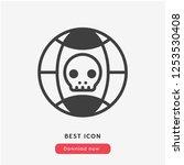 hacking icon vector. hack...   Shutterstock .eps vector #1253530408