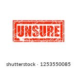 unsure red stamp | Shutterstock .eps vector #1253550085