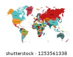 world map with country names... | Shutterstock .eps vector #1253561338