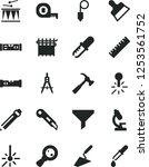 solid black vector icon set  ... | Shutterstock .eps vector #1253561752