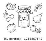 vector illustration of a jar...   Shutterstock .eps vector #1253567542