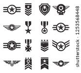 military badges icons. black... | Shutterstock .eps vector #1253568448