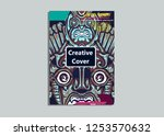 cover layout with tutan mask... | Shutterstock .eps vector #1253570632