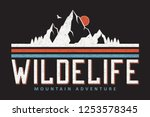 mountain typography graphics... | Shutterstock .eps vector #1253578345