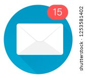 email icon. mail icon. envelope.... | Shutterstock .eps vector #1253581402