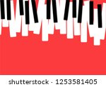 piano music poster. black and... | Shutterstock .eps vector #1253581405