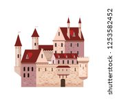 castle  fortress  ancient ... | Shutterstock .eps vector #1253582452