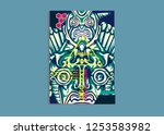 cover layout with tutan mask... | Shutterstock .eps vector #1253583982