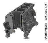 cylinder block of an internal... | Shutterstock . vector #1253589475