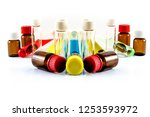 glass containers and bottles... | Shutterstock . vector #1253593972
