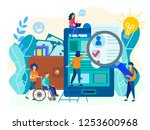 hiring people with disabilities ... | Shutterstock .eps vector #1253600968