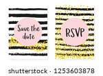 bridal shower set with dots and ... | Shutterstock .eps vector #1253603878