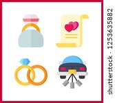 4 engagement icon. vector... | Shutterstock .eps vector #1253635882