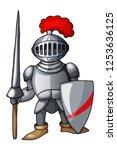 cartoon full body armor suit ... | Shutterstock .eps vector #1253636125
