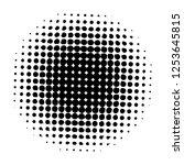 halftone. black circle. circle... | Shutterstock .eps vector #1253645815