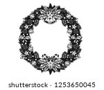 set of christmas ornament... | Shutterstock .eps vector #1253650045