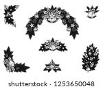 set of christmas ornament... | Shutterstock .eps vector #1253650048