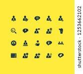 teamwork icons set with brain... | Shutterstock . vector #1253662102